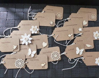 Assorted Pack of Natural Gift Tags