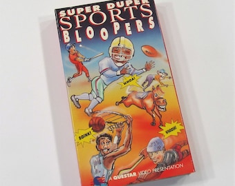 Super Duper Sports Bloopers 1992 Football Basketball Baseball, VHS Video Cassette