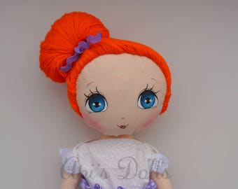 SALE Api's Dolls, OOAK doll, Handmade doll, Cloth doll, Art doll, Baby doll, First Doll, Classic doll, Redhead doll