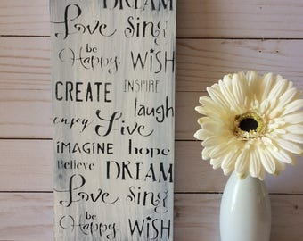 Rustic Wood Sign - Inspirational Words Wood Sign - Signs - Wood Wall Art - Wooden Signs - Rustic Decor - Wall Art - Room Decor - Wall Decor