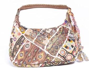 Bag Saffron (Medium) banjara vintage Multicolor handbag, embroidered fabric