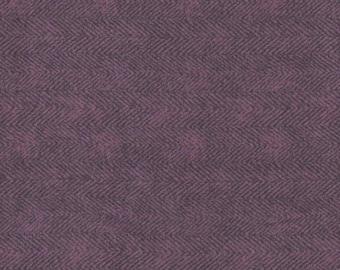 Purple Herringbone Woolies Flannel by Maywood Studio