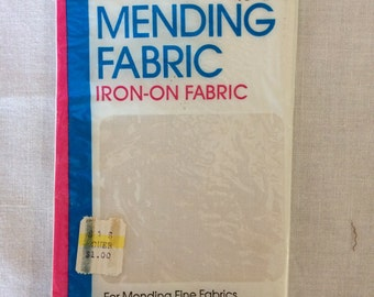 "New Bondex Iron-On White Mending Fabric 6-1/2"" x 14"" by Wrights"