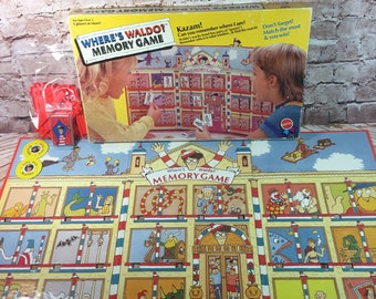 Vintage 1991 Where's Waldo Memory board game by Mattel 100% COMPLETE