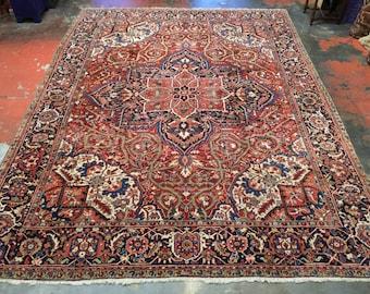"Superb Antique Persian Heriz Rug 9'8"" x 13'0"""