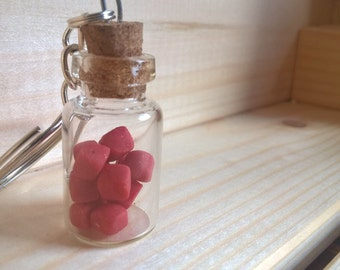 Retro sweets in jar, Cola Cube Key-chain