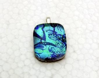 Butterflies - Beautiful dichroic glass pendant