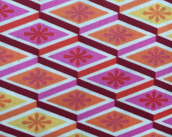 Tula Pink Cotton Woven Fabric 1/2 yd; Labyrinth in Peach Fuzz