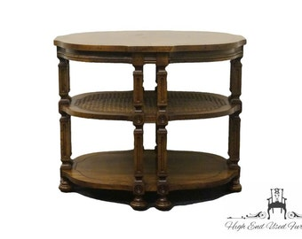 DREXEL HERITAGE French Regency Style Oval Three Tier End Table