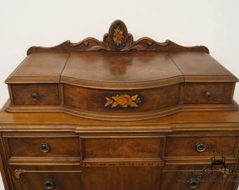 1920's Antique French Regency Chest w/ Jewelry Box Top