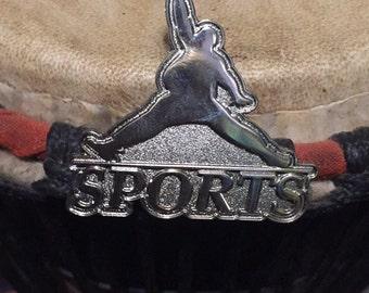 Silver sports hat pin