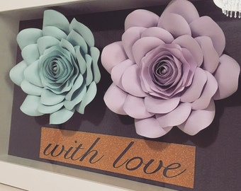 Personalised paper flower frame