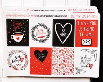 SALE VERTICAL Be My Valentine Erin Condren Lifeplanner™ Weekly Kit Planner Stickers