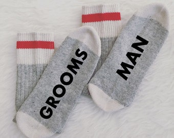 Men's Groomsman Socks, Groomsmen socks, Groomsman Gift Best Man Gift Wedding Gift Wedding Favors Groomsman gift Groomsmen Present Photo Prop