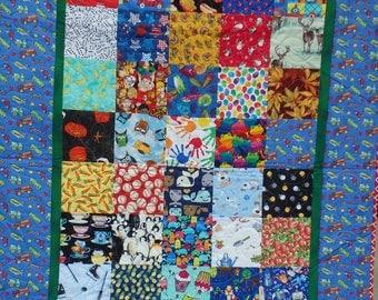 I Spy quilt, baby quilt, crib quilt, baby boy quilt, boy's quilt, vehicle quilt, nursery decor, truck quilt