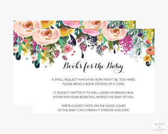 Bring A Book Baby Shower Insert, Book Request Baby Shower, Bring A Book Instead Of A Card, Printable, Bring A Book Insert, Instant Download