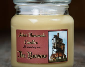 Harry Potter The Burrow Soy Candle | 16 oz. | All Natural Soy Wax | Geek Gift Idea