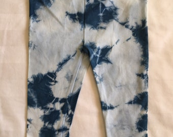 Shibori baby tights 0 | cloudy sky  pattern| 6 -12 months