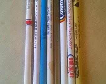 Vintage Advertising Pencils -- Set of Eight