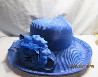 Betmar Blue Rose Polypropylene Hat