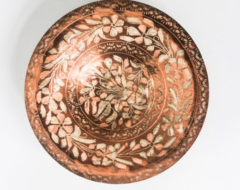 Copper dish - Oriental handmade traditional design bowl plate