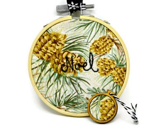SALE - Noel Embroidery - Noel Ornament - Holiday Embroidery - Holiday Ornament - Tree Ornament - Christmas Ornament - Christmas Embroidery