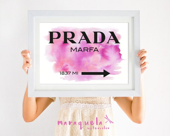 PRADA Marfa PINK,orange and violet brushstrokes. Apartment Gossip Girl Lily van der Woodsen WallArt Poster, Decor Sign NY Fashion girls room