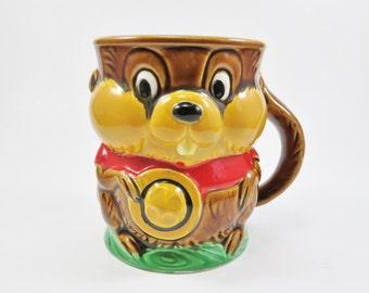 Vintage Beaver Mug, Beaver Coffee Cup, Canada Mug, Animal Mug, Canada Beaver, Canadian Souvenir,  Woolworth Woolco Made in Japan