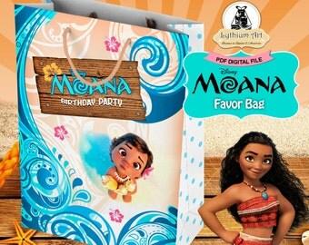 MOANA Party Bag, Moana Birthday Party, Moana Birthday, Instant Download, Printable Party Bag, Treat Bag, Moana Printables, Moana Party Decor