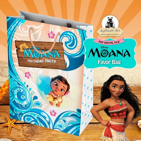 Moana Party Bag Moana Birthday Party Moana Birthday Instant