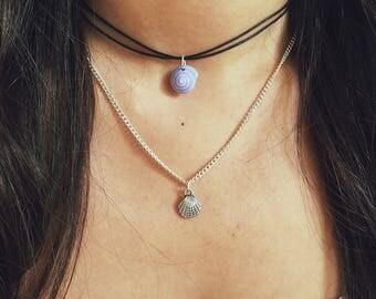 Shell Choker / Shell Necklace, Sea Shell Choker, Sea Shell Necklace, Silver Shell Necklace, Silver Shell Choker, Beach Choker, Layering