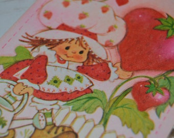 Strawberry Shortcake Vintage Valentine's Day Card Valentines American Greetings Hi Sweet Thing