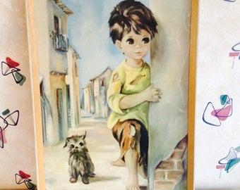Dallas Simpson, 'Little Wayne & Bedraggled Dog', Big Eye, Framed Print from 1967