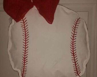 Baseball time!! Homerun burlap door hangers