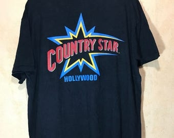 90s Vintage 1994 Grand Opening Country Star Hollywood T-shirt Adult XL Size