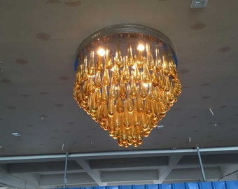 Custom blown glass chandelier