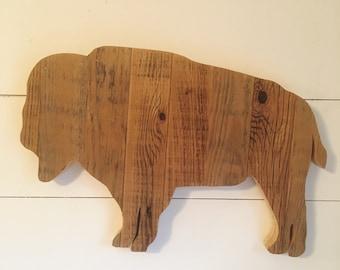 Reclaimed Wood Buffalo Sign