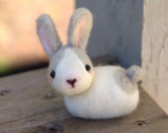 Miniature Rabbit-Felted Rabbit-Needle Felted Rabbit-Miniature Bunny-Felted Bunny-Needle felted bunny-home decor Rabbit -Plush Rabbit