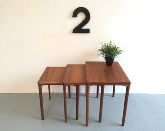Vintage Danish Nest Of Tables / Side Tables - 1960s Retro