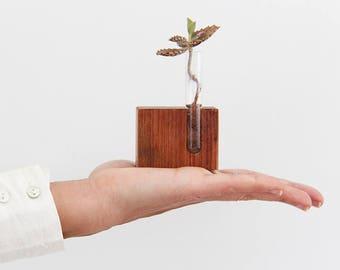 Father's day vase, Small vase, Bud vase, Test tube vase, Upcycled test tube vase, Hand made vase, Tube vase, Eco friendly gift, wedding gift