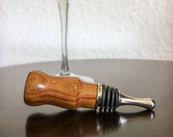 Handmade Rose Wood Wine Bottle Stopper, Bottle Stopper, Housewarming Gift, Hostess Gift, Wine Wedding Favor, Wine Gift