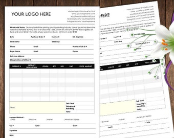 order form and Price Sheet on one page, Wholesale order form template, ms word order form, wholesale program,