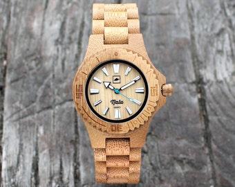 NALU SMALL watch  - 100% Bamboo Watch Free UK Shipping