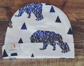 Toddler Blue Bear Hat + Organic Cotton