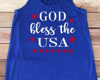 God Bless the USA, Patriotic shirt, women's shirt, Patriotic, July 4th shirt, Independence Day, gift idea, 4th of July