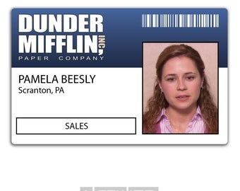 Gargantuan image with dunder mifflin name tag printable