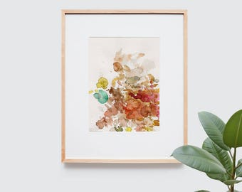 Abstract art composition - Contemporary art - Watercolor Print - Limited edition. Topos II.