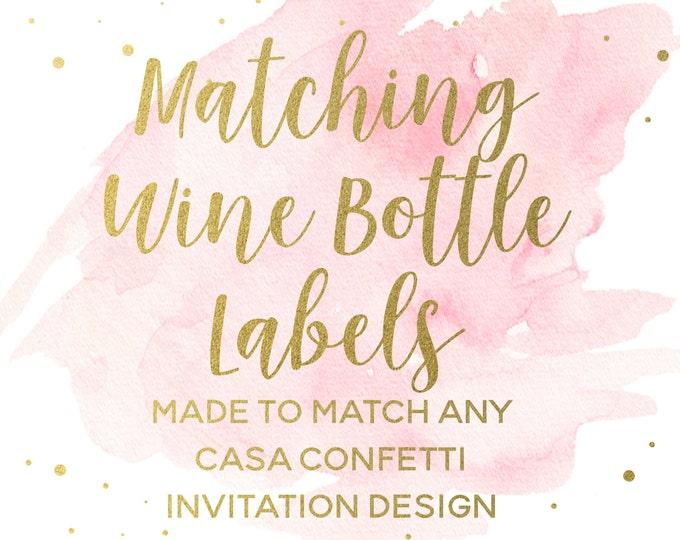 Printable Wine Bottle Labels for any Design, Champagne Bottle Labels, Baby Shower Birthday Bridal Shower Bridesmaid Bachelorette Baptism