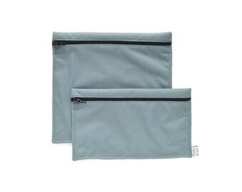 Reusable snack bags - 1 snack bag 1 sandwich bag - Gray - Sacs à sandwich et collation réutilisables