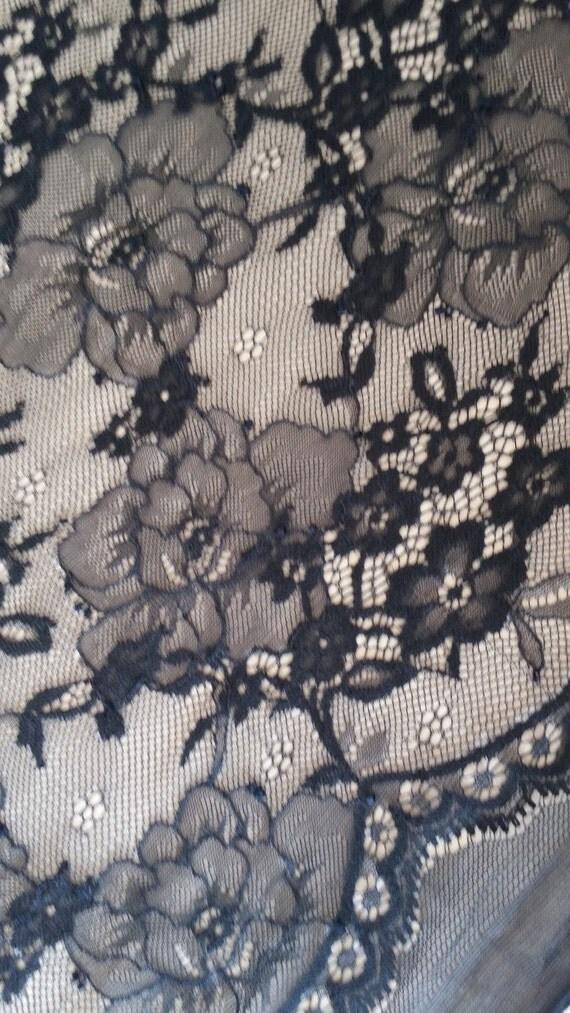 Black lace fabric, french lace, embroidery lace, Wedding lace, lace suite, veil lace, lingerie lace Chantilly Lace